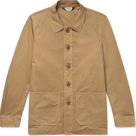 Aspesi Garment-Dyed Cotton-Twill Shirt Jacket