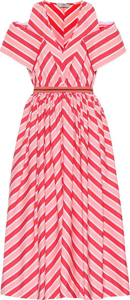 Fendi Striped cotton dress