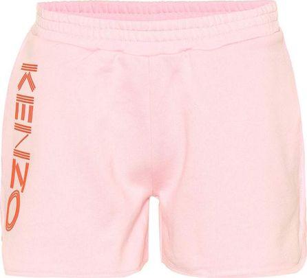 KENZO Printed cotton-fleece shorts