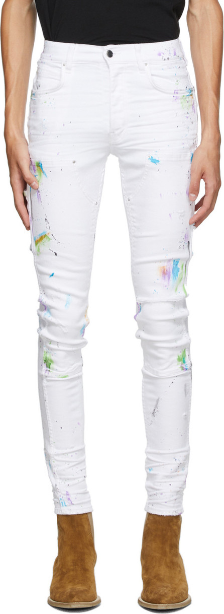 Amiri White Painter Workman Skinny Jeans