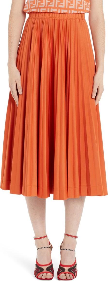 Fendi Pleated Jersey Midi Skirt