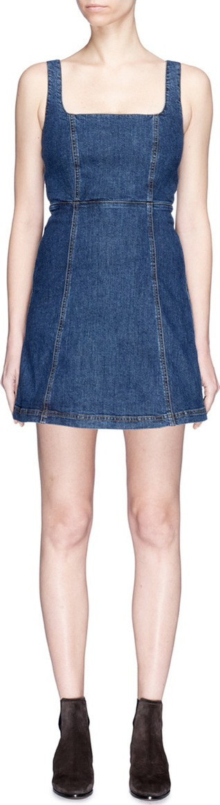Alexa Chung Cutout back denim dress