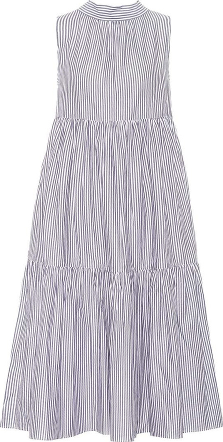 Asceno Striped cotton midi dress