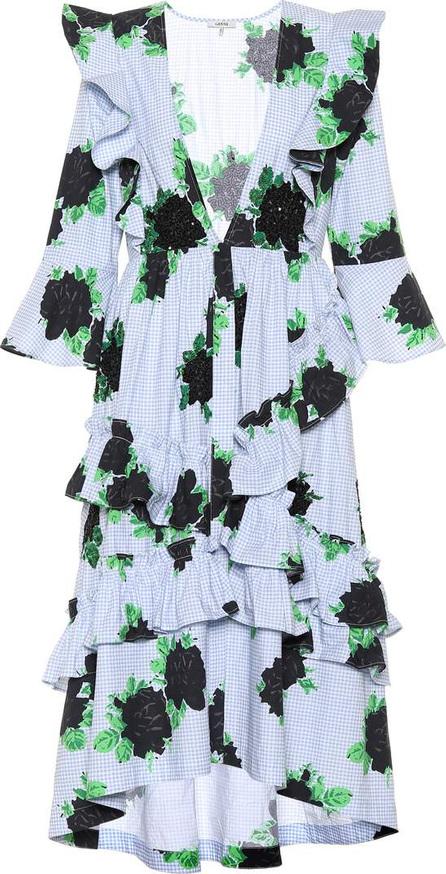 Ganni Pine ruffled cotton dress