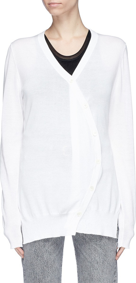 Aalto Curved placket silk-cotton cardigan