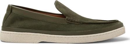 Ermenegildo Zegna Leather-Trimmed Suede Loafers