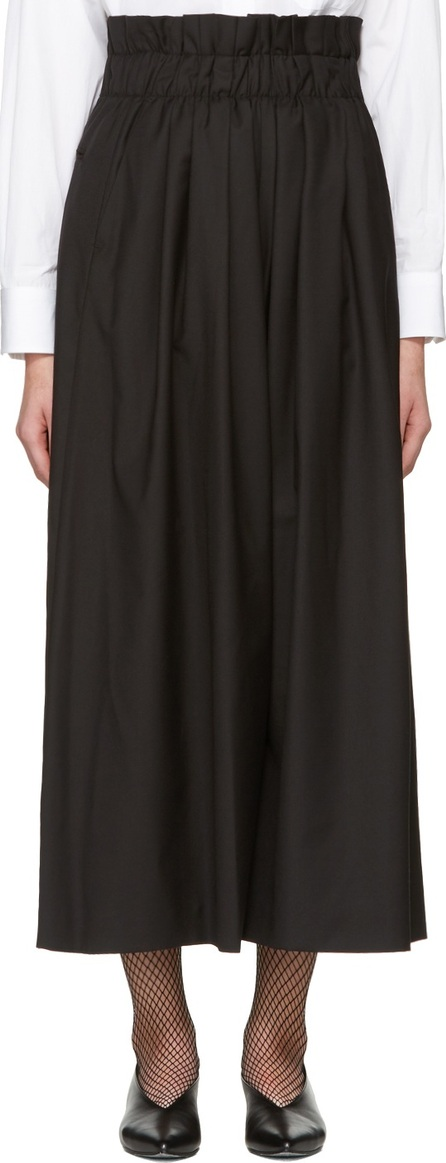 Noir Kei Ninomiya Black Gathered Trousers