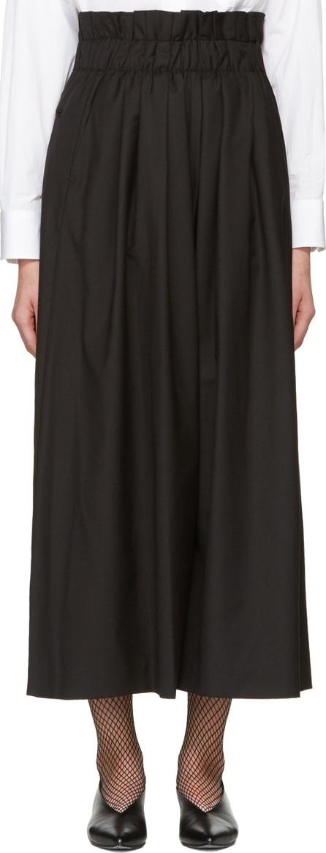 Noir Kei Ninomiya Black Gathered Trousers