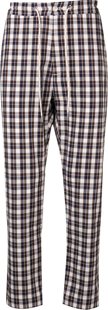 Drôle De Monsieur Check cropped trousers