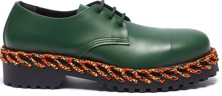 Balenciaga Braided welt leather Derbies