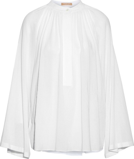 Michael Kors Collection Gathered cotton-gauze blouse