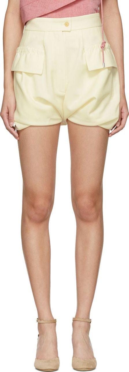Carven Ivory Bloomer Shorts