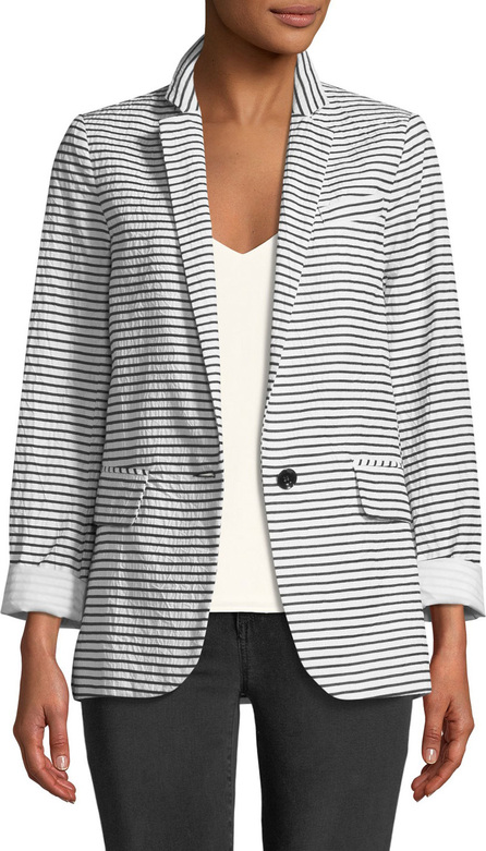 Nanette Lepore Resort Striped One-Button Jacket