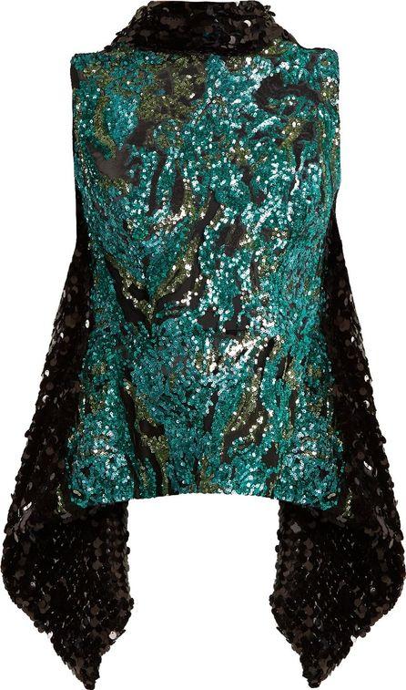 Halpern Sequin-embellished open-back top