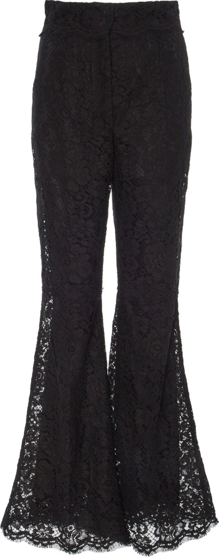 Dolce & Gabbana Flared High-Rise Lace Trousers