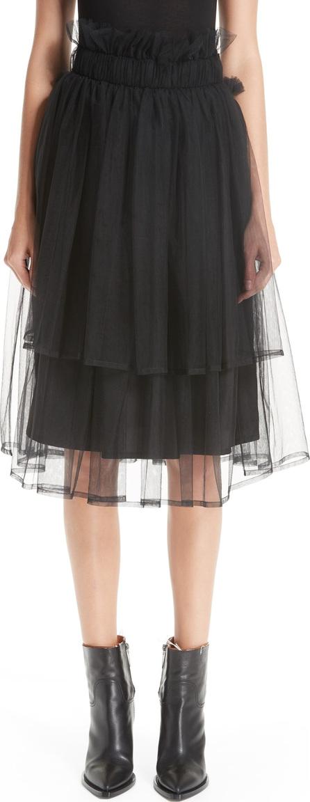 Noir Kei Ninomiya Tulle Overlay Midi Skirt