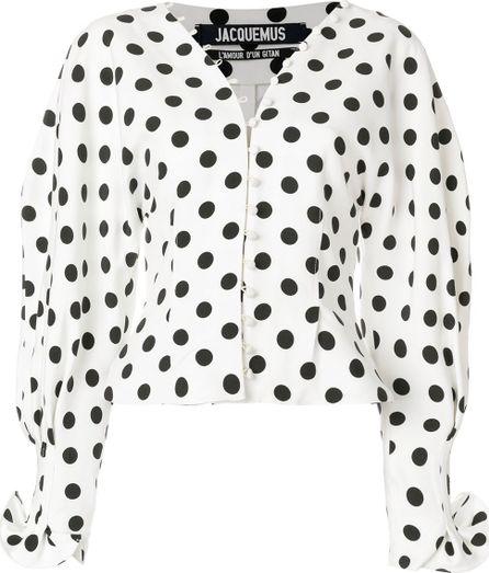 Jacquemus polka dot button up blouse