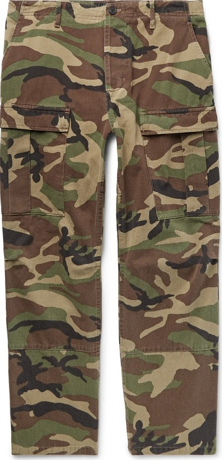 Balenciaga Cropped Camouflage-Print Cotton-Twill Cargo Trousers