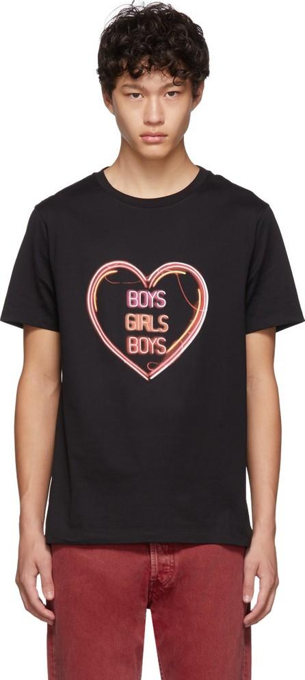 Neil Barrett Black Oversized 'Boys Girls Boys' T-Shirt