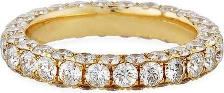 Graziela Gems 18k Gold Diamond 3-Sided Ring, Size 7