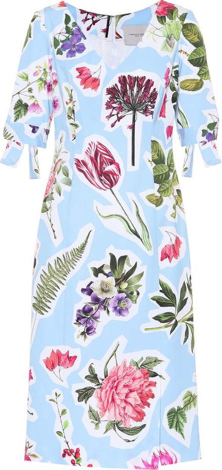 Floral cotton-blend dress