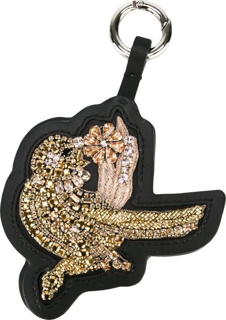 Nº21 embellished bird keyring