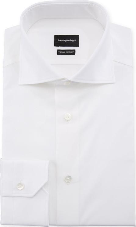 Ermenegildo Zegna Men's Trofeo Comfort Dress Shirt, White