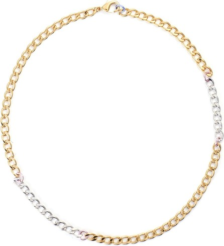 Gaviria Disco 18k gold plated chain necklace