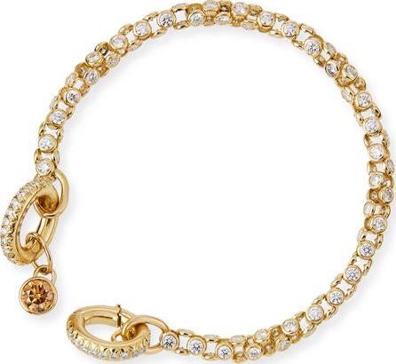 Oscar Heyman 18K Yellow Gold Diamond Watch Bracelet with Cognac Diamond Toggle