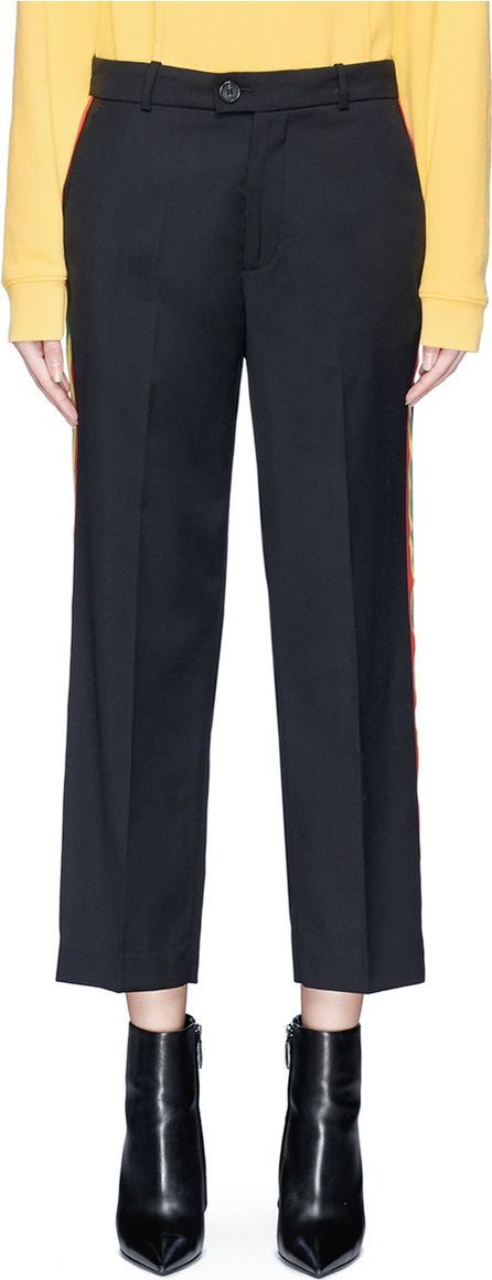 Adaptation Tricolour stripe outseam twill pants