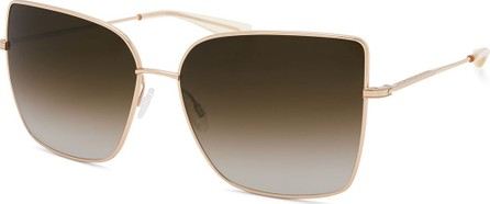Barton Perreira Mystere Rectangle Titanium Sunglasses