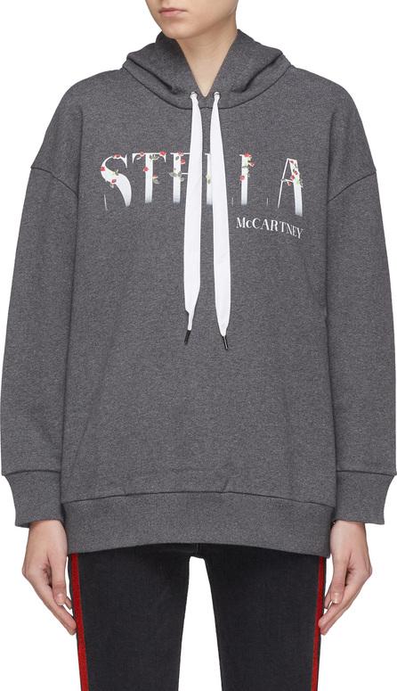 Stella McCartney Floral appliqué logo print hoodie