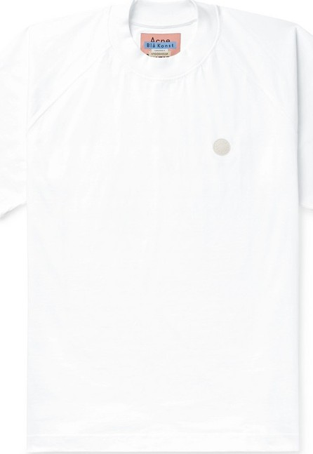 Acne Studios Bassetty Uni Oversized Logo-Appliquéd Cotton-Jersey T-Shirt
