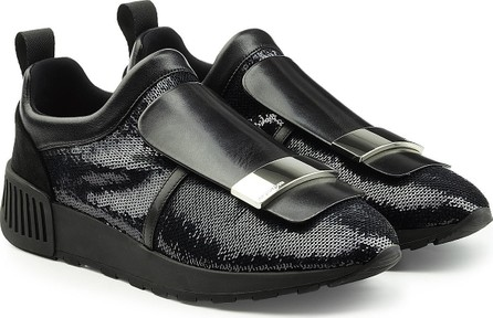 Sergio Rossi Slip-On Sneakers with Leather and Sequins