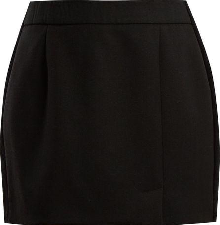 Bella Freud Alexa side-striped wool-blend mini skirt
