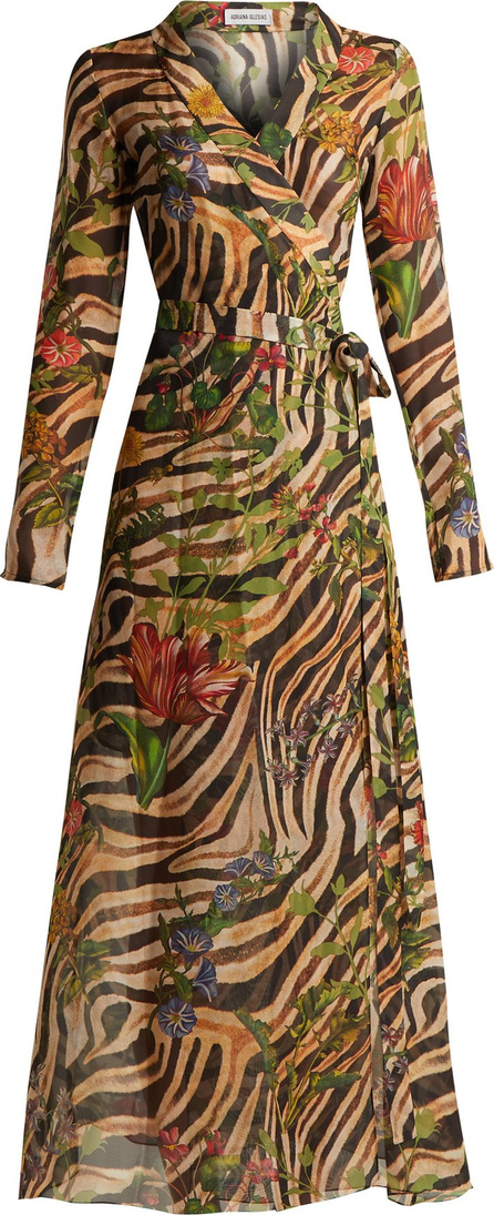 Adriana Iglesias Beverly zebra-print silk chiffon dress