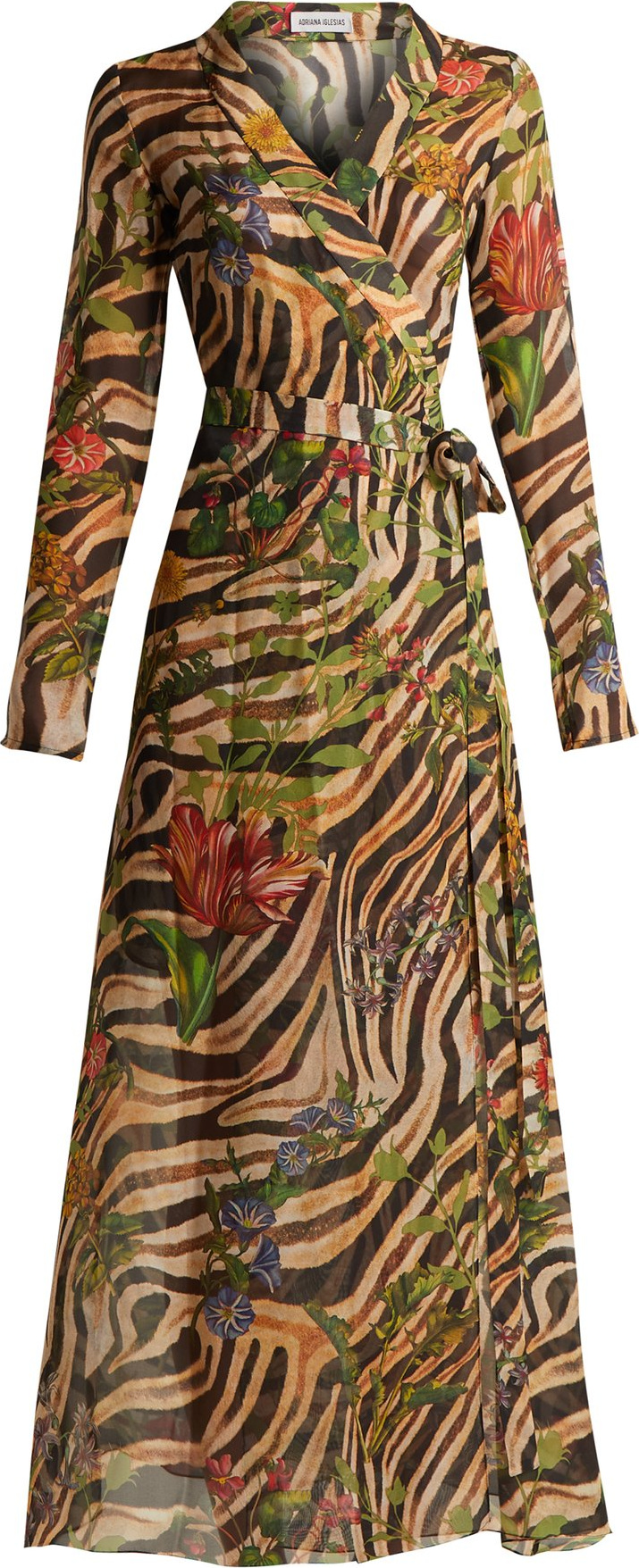Adriana Iglesias - Beverly zebra-print silk chiffon dress