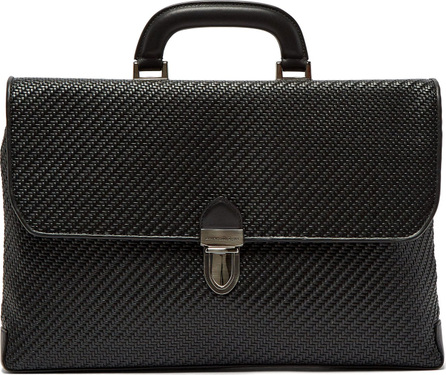 Ermenegildo Zegna Pelle Tessuta woven-leather briefcase