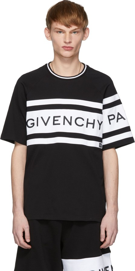 Givenchy Black & White Embroidered Logo T-Shirt