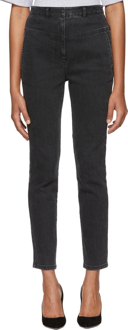 Tibi Black Jamie Flat Front Jeans