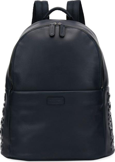 Giorgio Armani Armani Leather Backpack, Blue