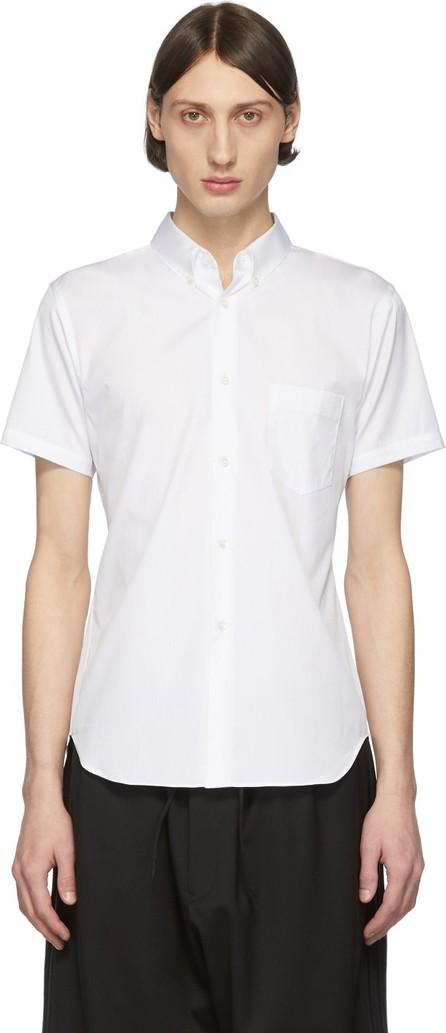Comme Des Garcons White Cotton Poplin Short Sleeve Shirt