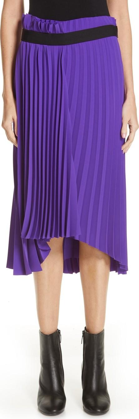 Balenciaga Fancy Asymmetrical Pleated Crepe Skirt
