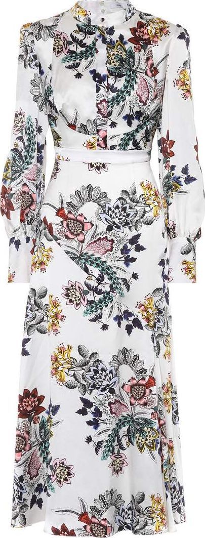 Erdem Orlena printed silk dress