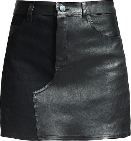 Amiri leather mini skirt