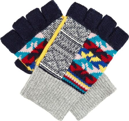 Burberry London England Contrast-panel cashmere-blend fingerless gloves