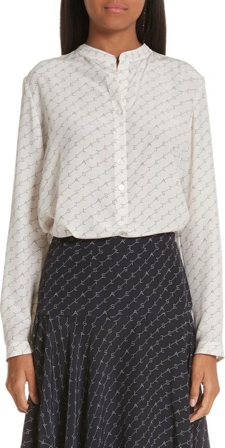 Stella McCartney Eva Logo Print Silk Shirt