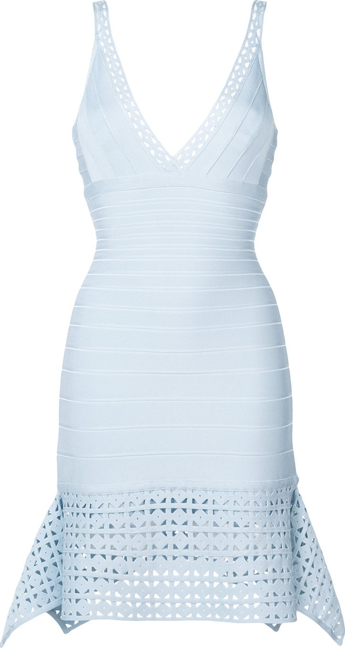 Herve Leger - laser cut details dress