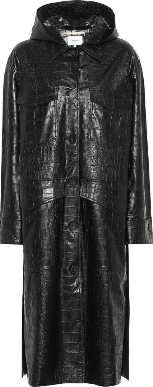 Nanushka Gus embossed faux leather coat