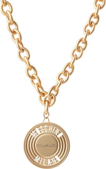 Moschino Chain Necklace with Can Top